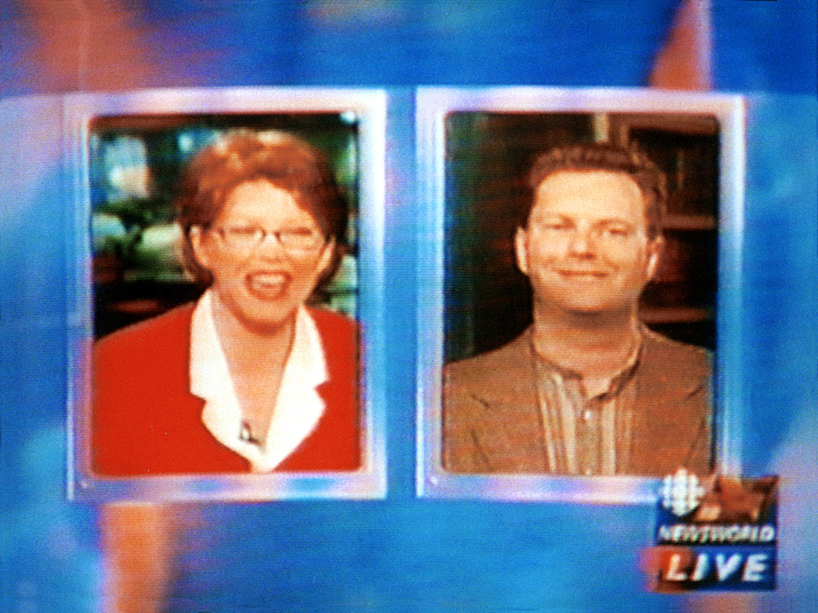 CBC Newsworld 1999-05-19 - Simm interview by Suhana Meharchand re Hanlan's Point CO-zone (image 3)